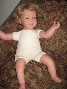 Pat Secrist Reborn Laughing 1994 Doll REBORN Brown Eyes, Blonde Hair #PatSecrist #Doll