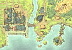The Coastal Town Map Free Fantasy map Fantasy city map Town map