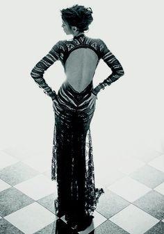 Anna Przybylska in dress by Gosia Baczyńskia