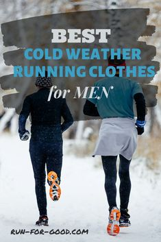 Wearing the right clothes for winter running can keep you safe and warm. Get recommendations for cold weather running clothes for men. #coldweatherrunning #winterrunning #runningclothes Mens Winter Running Gear, Running In Cold Weather, Running Clothes Winter, Best Running Shoes, Running Tights, Running Workouts, Under Armour Men, Mens Fitness, Running Apparel