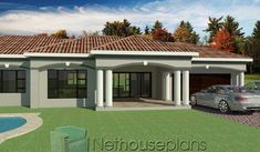3 Bedroom House Plans South Africa | One Storey House | NethouseplansNethouseplans 5 Bedroom House Plans, House Plans Mansion, Garage House Plans, Family House Plans, 3 Bedroom Bungalow, Double Storey House Plans, One Storey House, Tuscan House Plans, Modern House Plans