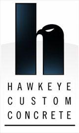 Hawkeye Custom Concrete Logo