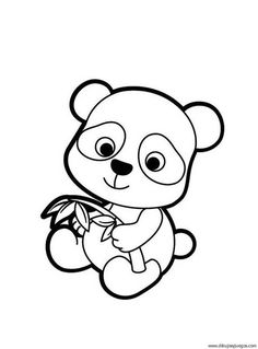 Mothers Day Coloring Page of Momma and Baby Panda Bears