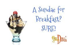 A breakfast sundae is simple and is fun for the kids, and you can feel good about serving it! Breakfast Sundae Ingredients: Whole wheat waffle, toasted (I used frozen Eggo Whole Wheat Waffle… Easy Snacks, Easy Meals, Whole Wheat Waffles, Simple Recipes, Cooking With Kids, Food Videos, Feel Good, Food To Make, Back To School