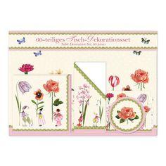 """60-teiliges Tischset """"Blumenfrauen"""" von Silke Leffler #Grätz #SilkeLeffler"""