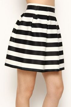 MUST HAVE STRIPED SKIRT