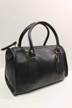 Vintage COACH Black Leather MADISON Speedy by CultureCreature,