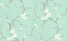 Blossom+Soft+Jade+(30-032)+-+Dulux+Wallpapers+-+This+beautiful+sprigged+blossom+design+brings+a+touch+of+the+Orient+to+any+decorating+scheme.+Showing+in+Soft+Jade+-+other+colour+ways+available.+Please+request+a+sample+for+true+colour+match.+Paste-the-wall+product.
