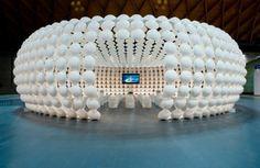 Italian Architect Riccardo Giovanetti designs Futuristic Plasticamente Pavilion for Disney movie Trilli
