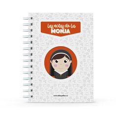 Cuaderno - Las notas de la monja, encuentra este producto en nuestra tienda online y personalízalo con un nombre. Notebook, Nun, Notebooks, Report Cards, Store, The Notebook, Exercise Book
