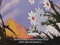 All the flowers would have very extra special powers...
