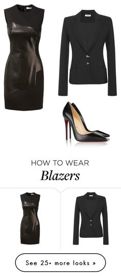 """""""Untitled #8812"""" by andreeascafariu on Polyvore featuring Thierry Mugler and Christian Louboutin"""