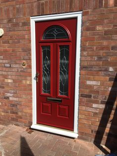 Our Cheviot design in our vibrant Rich Red is sure to never go out of style. Design your dream Endurance door here; http://design.endurancedoors.co.uk/