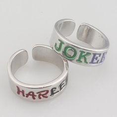 b7fa191ac Harley Quinn Joker Adjustable Lovers Ring