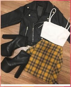 Plaid mini skirt black jacket coolladies net skirt for teens 8 casual outfits you should wear to look younger Girls Fashion Clothes, Teen Fashion Outfits, Edgy Outfits, Swag Outfits, Mode Outfits, Retro Outfits, Cute Casual Outfits, Cute Fashion, Look Fashion