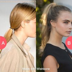 Low or high pony? Click here to vote @ http://getwishboneapp.com/share/6855287