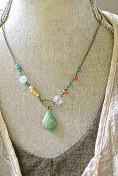 Carla. bohemianperuvian opallocket necklace. by tiedupmemories, $36.00
