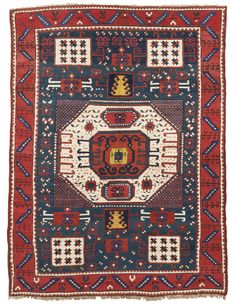 A Karachopt Kazak rug, Southwest Caucasus -    approximately 237 by 181cm; 7ft. 9in., 5ft. 11in., last quarter 19th century