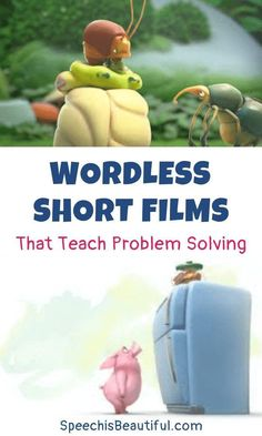 10 wordless videos that teach problem solving – I use these videos with in my speech therapy (and teletherapy sessions) Speech Activities, Language Activities, Therapy Activities, Activities For Kids, Therapy Ideas, Preschool Speech Therapy, Problem Solving Activities, Social Skills Activities, Speech Language Therapy