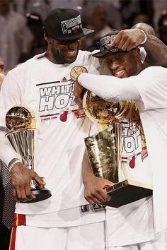 LeBron James Dwayne Wade Miami Heat NBA Finals