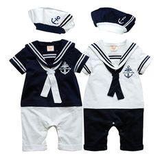 Choice of Boys Navy Sailor Outfits. 3 Piece Set