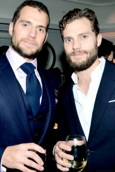 """Jamie Dornan & Henry Cavill at W Magazine event (◡‿◡✿)"""