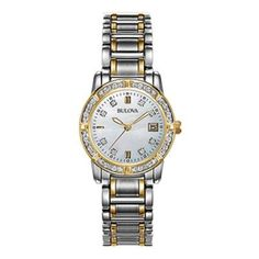 Bulova Diamond Watch – Features: 24 diamonds, stainless steel band, 6.7mm thick, 26mm diameter, mother of pearl dial, deployant buckle, water resistant up to 30m