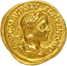 Rome. Severus Alexander, 222-235 AD Gold Aureus, The Colluseum 223 AD
