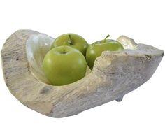 Homewares & Home Decor Online-Natural Wood Capiz Bowl - small-*NEW ARRIVALS!