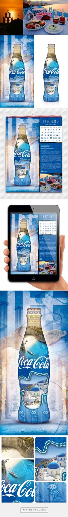 Coca-Cola refresh the summer Greek on Behance by Mattia Generali curated by Packaging Diva PD. Beautiful blue packaging design concepts.