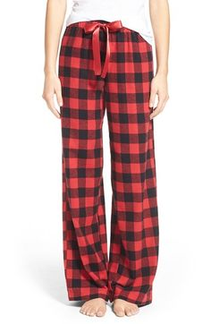 BP. Plaid Lounge Pants available at #Nordstrom red check medium