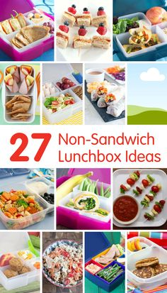 27 Non-Sandwich Lunchbox Ideas for Back to School - Get out of a boring sandwich rut with these fun, easy and healthy ideas! @produceforkids