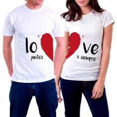 56 mejores imágenes de camisetas personalizadas para novios  1b43d37b1b8d4