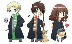 These are stickers I made for last year's anime con. They were sold out (^^) Draco Malfoy, Harry Potter and Hermione Granger from Harry Potter. Harry Potter Fan Art, Harry James Potter, Harry Potter Patch, Images Harry Potter, Harry Potter Hermione, Harry Potter Universal, Harry Potter Characters, Baby Animal Drawings, Harry Potter Background