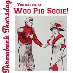 You had me at…WOO PIG SOOIE! Check out this meme we created from a vintage Razorback graphic from the University of Arkansas Football Vault by Rick Schaeffer.