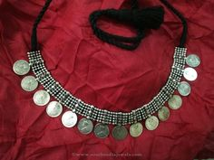 Silver Coin Necklace Designs, Antique Silver coin Necklace Designs.