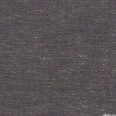 Neon Neppy Chambray - Flecked Yarn-Dye - Dk Charcoal Gray