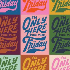 """Mary Kate McDevitt on Instagram: """"Friday! Friday! Friday! ✨ I'm constantly remixing this drawing so I figured I would do a little color study for today's warm-up. I also…"""" Graphic Design Posters, Graphic Design Typography, Lettering Design, Branding Design, Logo Design, Retro Graphic Design, Cute Typography, Typography Letters, Typography Inspiration"""