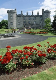 Well-manicured gardens welcome you to the Victorian-inspired Kilkenny Castle. #Ireland