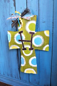 Burlap Cross Door Hanger. $40.00, via Etsy.