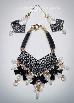 """""""Mademoiselle Belle"""" Chanel Inspired Jewelry Set By CULTE DE PARIS 
