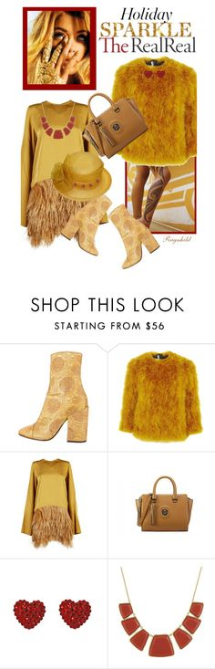 """""""Holiday Sparkle With The RealReal: Contest Entry"""" by ragnh-mjos ❤ liked on Polyvore featuring Dries Van Noten, Topshop, Sofie D'hoore, Tarina Tarantino, Karen Kane, outfit, conest and december2015"""