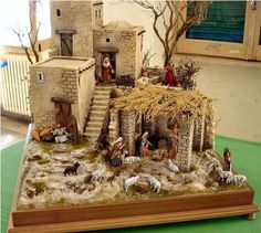 Beautiful Births or Christmas Nativity Scenes - Give Details Fontanini Nativity, Diy Nativity, Christmas Nativity Scene, Christmas Villages, A Christmas Story, Christmas Carol, Christmas Home, Xmas, Nativity Scenes