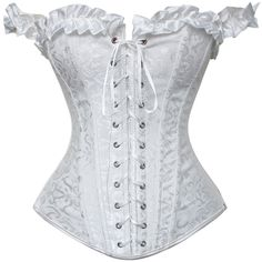 White Wedding Dress Corset Bridal Underwear Boned Overbust Basque Classic Lacing-up Corselet Sexy Bodyshaper Bridemaid Outfits Wedding Dresses Plus Size, White Wedding Dresses, Plus Size Dresses, Corset Underwear, Sexy Corset, Corset Tops, Corset Dresses, Lace Corset, White Corset Dress