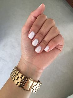 "Natural Gel Nail Polish Beautiful Gel Manicure 2 Coats Of Opi S ""funny Bunny"" and 1 Coat Of Manicure Colors, Manicure Y Pedicure, Nail Colors, Color Nails, Manicure Ideas, Nail Tips, Cute Nails, Pretty Nails, Hair And Nails"