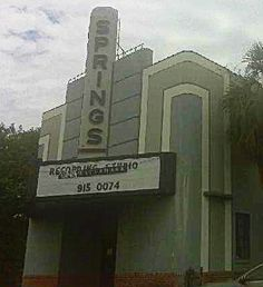 Springs Theater. Tampa Florida classic movie theater art deco