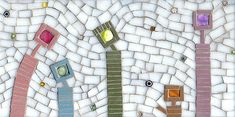 Family Outing   by Mixed Media Mosaics