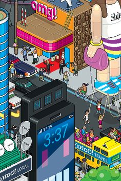 30 Dazzling Examples of Pixel Art by Eboy Hypebeast Room, Fortune Magazine, Iphone 5 Cases, Pixel Art, Arcade, Things That Bounce, Iphone Wallpaper, The Incredibles, Wallpapers