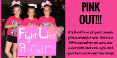 Before you get all pink-ed out for your PINK-OUT game, here's a little reminder on why we wear pink and how you can do more! Tis the season….it's PINK-TOBER! This past weekend, we started seeing big burly football players sporting pink sweat [. Pink Out, Cheer Coaches, We Wear, Tis The Season, Football Players, Cheerleading, October, Spirit, Bows
