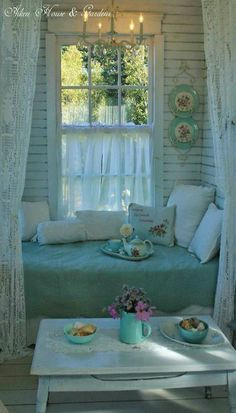 ♥cute cottage seating area♥ perfect for a cat nap
